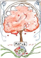 Art Nouveau Maple Tree by Goats-On-A-Boat