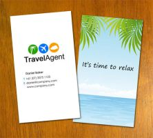 Travel Agent Business Card by danbradster