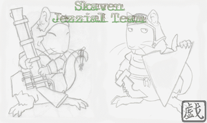 Skaven Jezzial Team by tawamureru