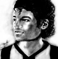 Michael Jackson portrait Thriller era by 79ChristinaS