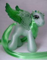 Baby Joyful Jade little pony by Woosie