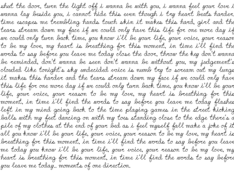 Texture write. [Song:Moments of One Direction-v2] by AndreeaMaftei