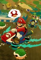 Mario Kart 8 by cheshirecatart