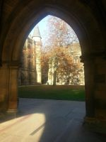 Autumn at Glasgow University. by Hironolind