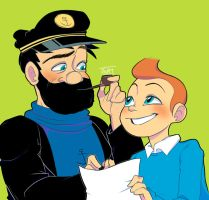 Tintin and the Captain by AskPrincesMultifruit
