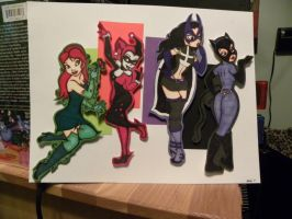 Gotham Girls Art 2 by VietaSkellington