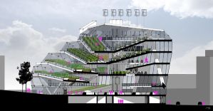 Vertical Farm Section by QubixDesign