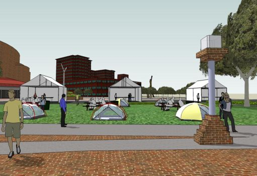 ArtScape 2012 Tent Project - from activity tent by mdmodeler