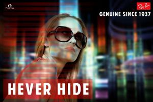 ray ban poster ( never hide ) by AleksandarN