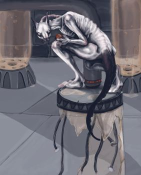 Realistic Mewtwo by Leashe