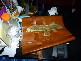 messenger bag WIP by funkydpression