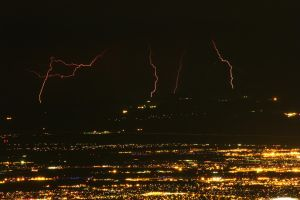 Lightning Over Tucson, AZ 7-6-2014 by RayM0506