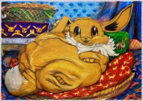 Eevee too fat 2009 by SSsilver-c