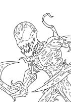 Spectacular Carnage Lineart by GRIDALIEN