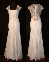 Lace 1920s Style Gown by TransparentDream