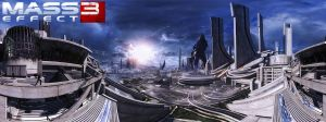 Mass Effect 3 - Attack On Earth by Riot23