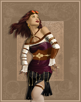 VCB Steampunk Woman by Mirabel