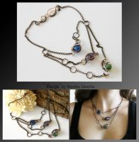 Auga- wire wrapped copper necklace by mea00