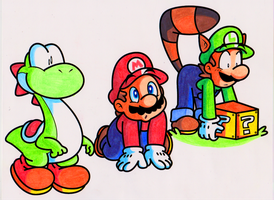 Eye Candy Plumbers + Yoshi by JamesmanTheRegenold
