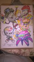 Its a PvZ PARTY!!! by theguywhodrawsalot