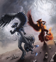 Constant fight by gonedreamer