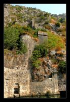 Mountain Part Of The Wall Of Kotor City by skarzynscy