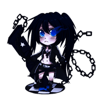Black Rock Shooter Chibi by Wosda