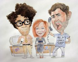 IT Crowd by Oliver-Hamlin