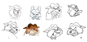 FOZ Sketch Gideon Grey expressions jealous face by FairytalesArtist