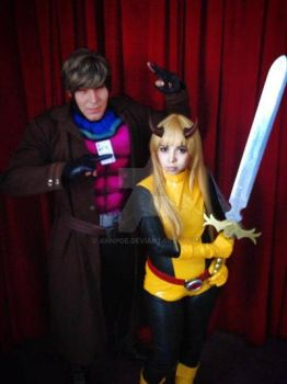 Magik  Illyana Rasputin and Gambit by AnnPoe