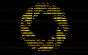 Portal ASCII Wallpaper -wide- by bloodinmystool