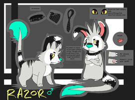 Razor Reference Sheet by SpunkyRacoon