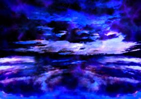Visions of Blue by Blank--Canvas
