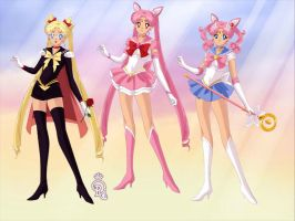 Chibiusa sisters by PrincessSailorComet