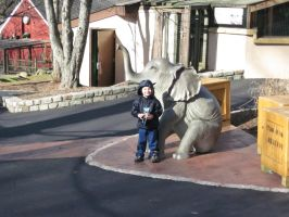 Mr  B and the elephant by jswis by jswis