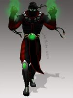 Ermac Mortal Kombat 9 Painting by JustMcCollum