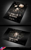 Black Party Flyer Templates by AnotherBcreation