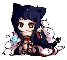 ChibiLeague - Ahri by HelloATK