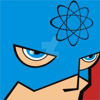 The Atom Pop Art tile by HeadsUpStudios