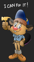 .:WIR:. Fix-it Felix Jr. the Beaver by SEGAMew