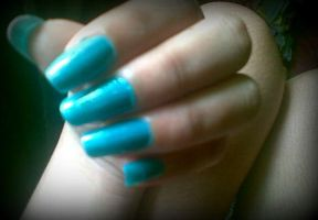 My Turquoise Nails by anyatagomachii