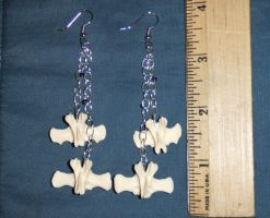 Opossum Vertebrae Earrings by Magelet