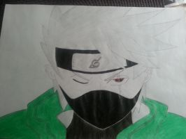 Kakashi with his Magekyo-Sharingan (colored) by Kopy-Ninja-Deviant