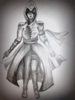 Quick sketch: Assassin me :3 by Kamilee02