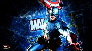 Ultimate marvel vs capcom 3 Captain America by KaboXx