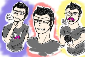 Markiplier Doodles 2 by AuroraSpirit