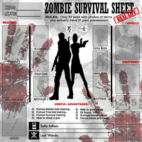 Zombie Survival Sheet: REAL by DETWERKS