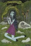 Forest Girl with Flute by bethywilliams