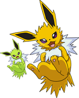135 - Jolteon - Art v.3 by Tails19950