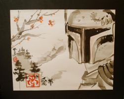 Boba Fett in Tibet by springloaded